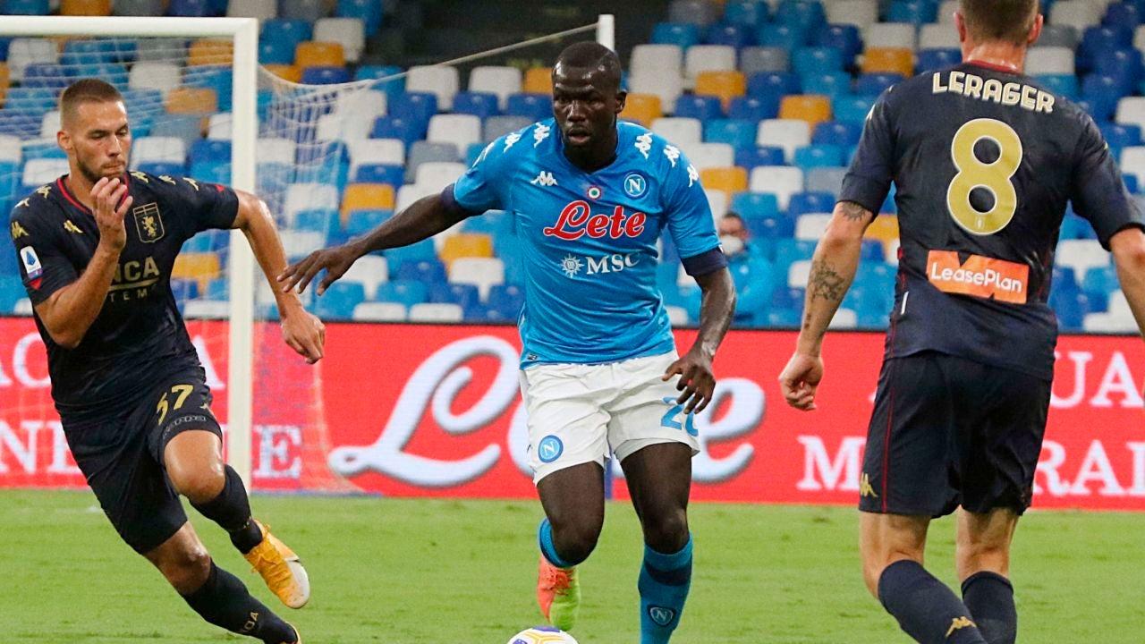 Imagen del partido entre el Genoa y el Nápoles