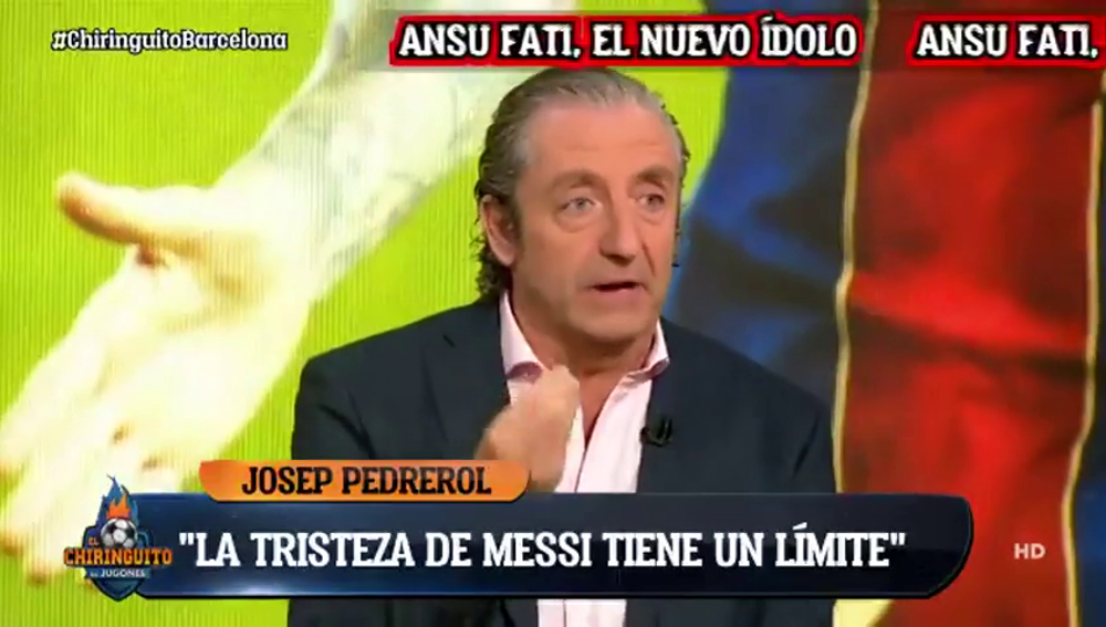 "Pedrerol se harta de Messi: ""Me empieza a cansar su tristeza"""