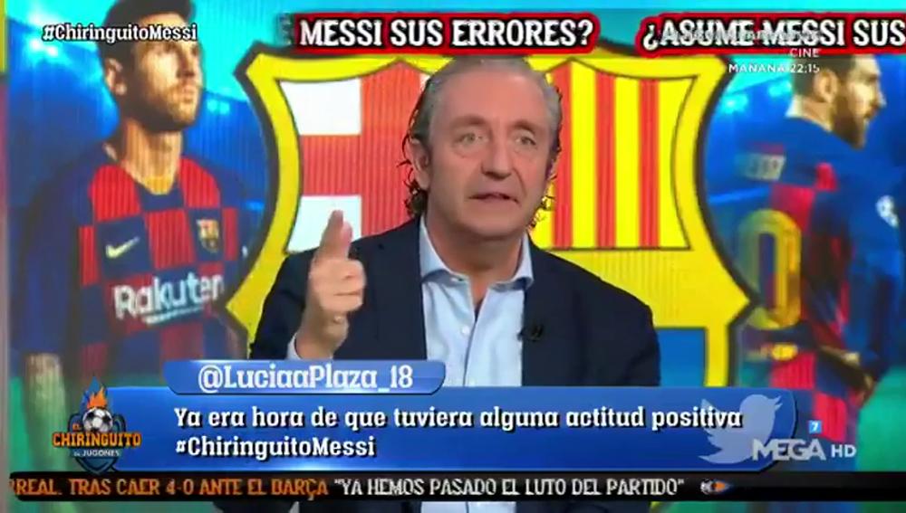 """Pedrerol, tajante: """"¿Ayudar al Barça? Messi quería ayudar al City de Guardiola"""""""