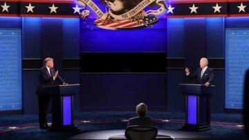 Imagen del debate electoral entre Donald Trump y Joe Biden