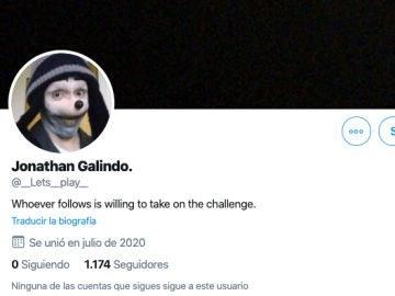 Cuenta de Twitter Jonathan Galindo