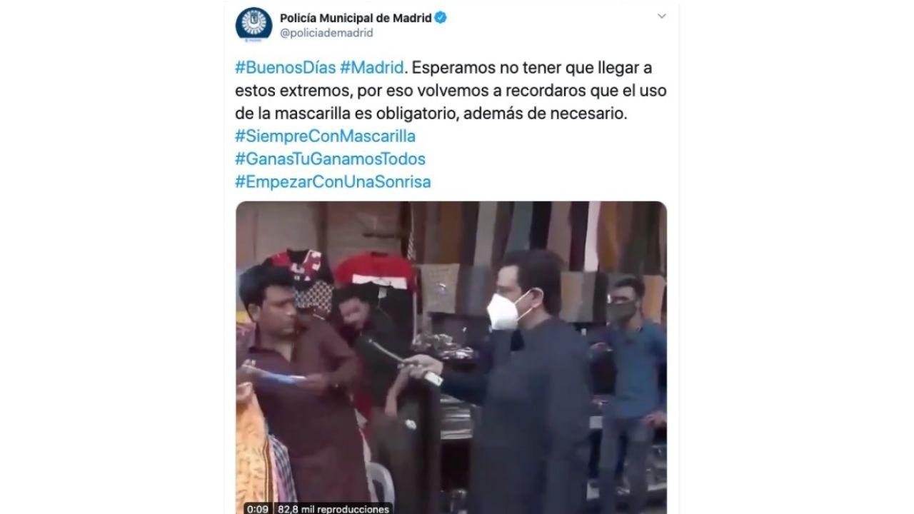"""Indignación por un """"desafortunado"""" chiste de la Policía de Madrid en Twitter"""