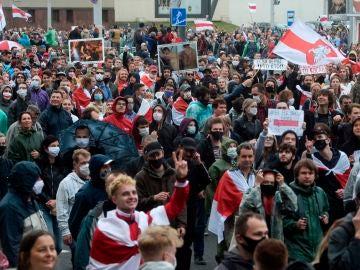 Protestas en Minsk