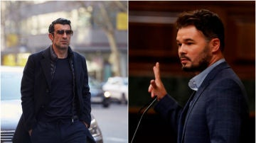 Luis Figo y Gabriel Rufián