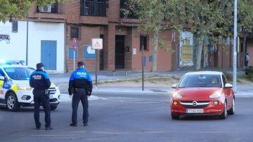 Policía Local en un control en Alcorcón