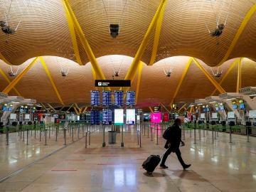 La terminal T4 del aeropuerto de Barajas en Madrid