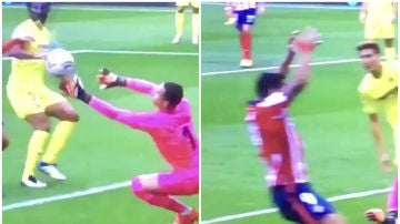 ¿Pidió penalti Suárez por manos de Asenjo?