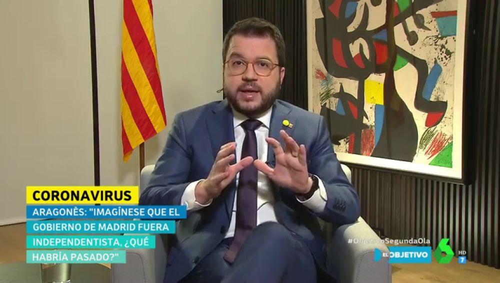 ¿Habría habido menos muertos y contagios por COVID siendo Cataluña independiente? Así responde Pere Aragonès