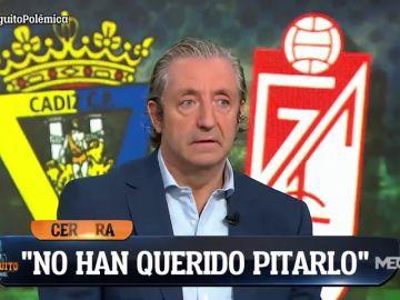 """Pedrerol, indignado con el arbitraje al Cádiz: """"Es el mayor escándalo desde que está el VAR"""""""