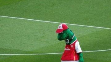 Gunnersaurus, mascota del Arsenal