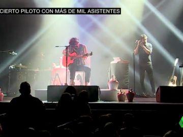 Imagen de archivo de un concierto con público