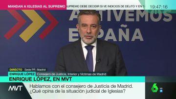 El consejero de Justicia de Madrid, Enrique López