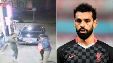 Mohamed Salah socorre a un sin techo en una gasolinera