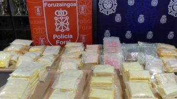 La Policía Foral de Navarra descubre 176 kg speed en un trastero de Tudela