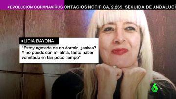 Lidia Bayona no tuvo una cita presencial con su médico en todo el estado de alarma