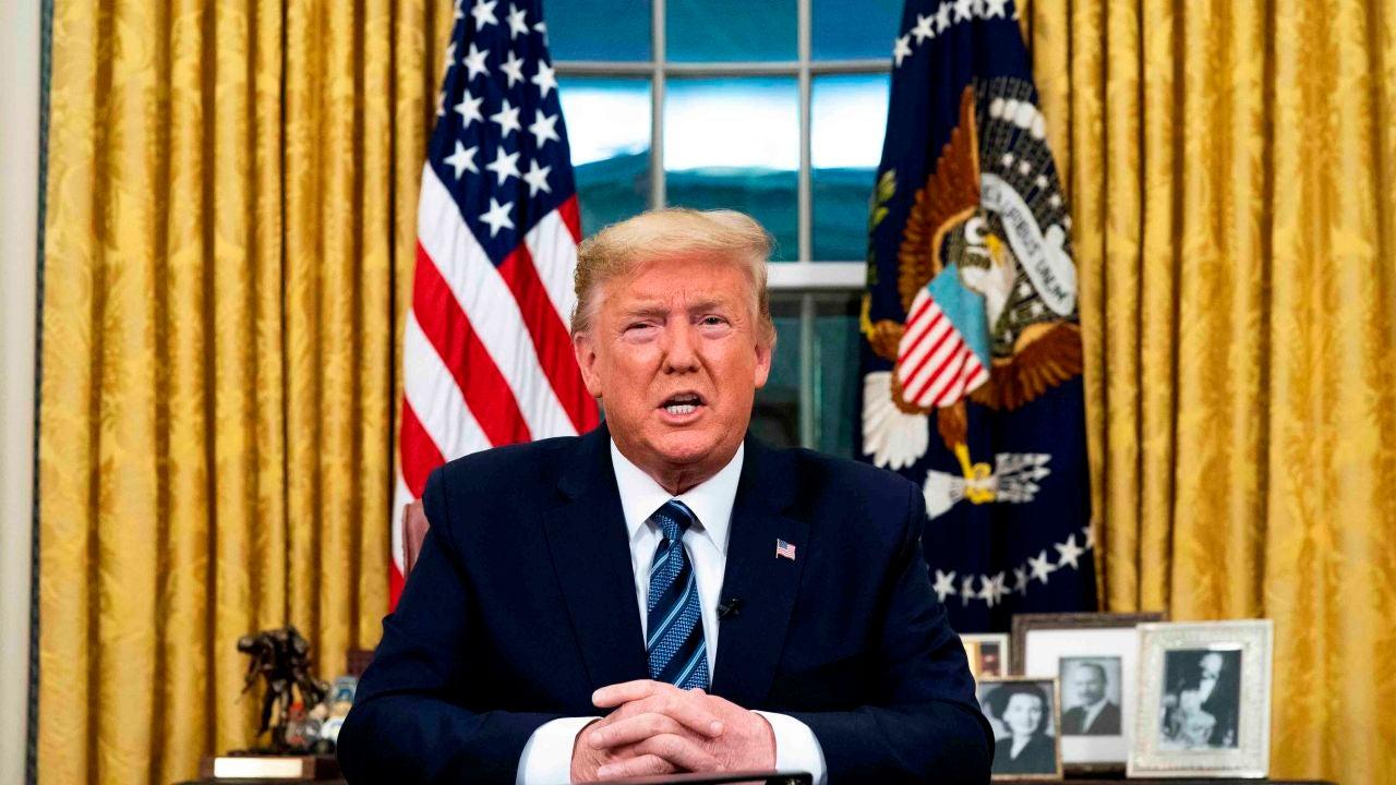 Imagen de Archivo del presidente de los Estados Unidos, Donald Trump, en el Despacho Oval en Washington