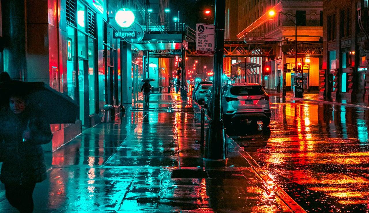 Una escena nocturna