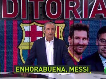 """Bartomeu: """"Messi, Bartomeu era el único problema que tenías para renovar, ¿no? ¿O acaso sólo era una excusa?"""""""