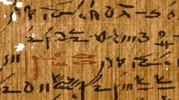 Detalle de un tratado médico de la biblioteca del templo de Tebtunis