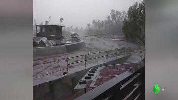 Imágenes del tifon Goni en Filipinas