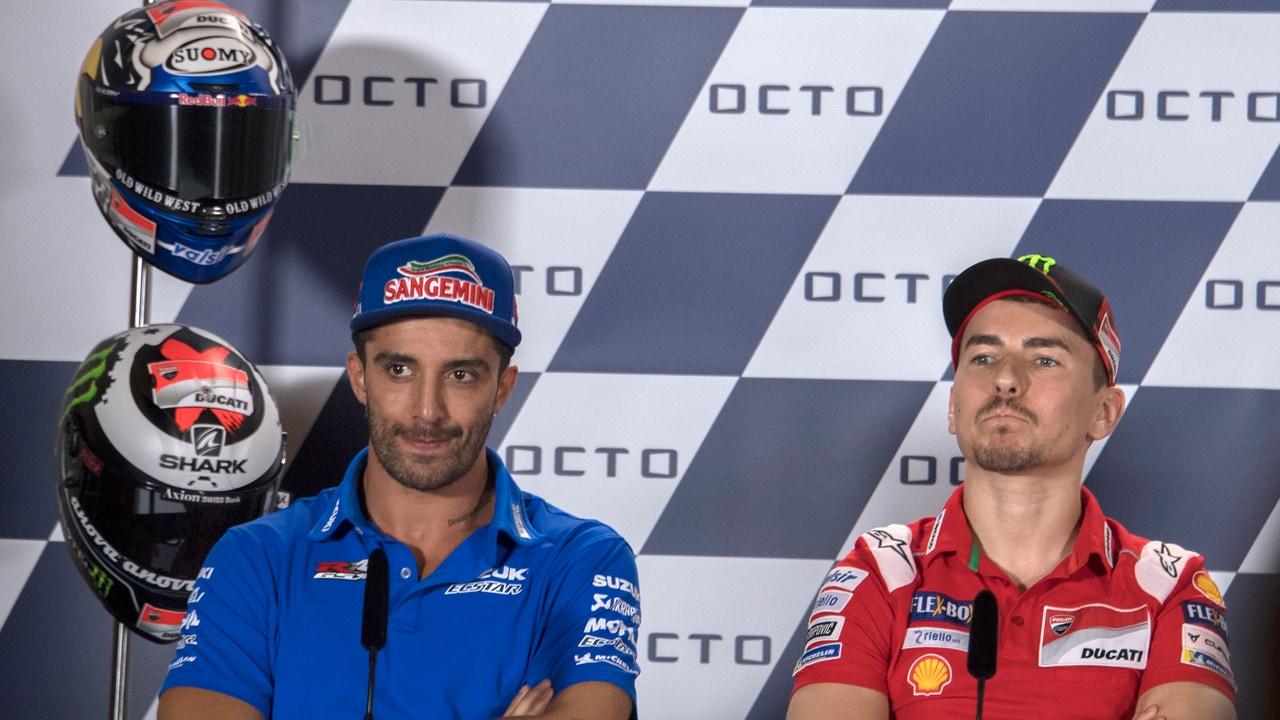 Iannone y Lorenzo en el GP de Misano