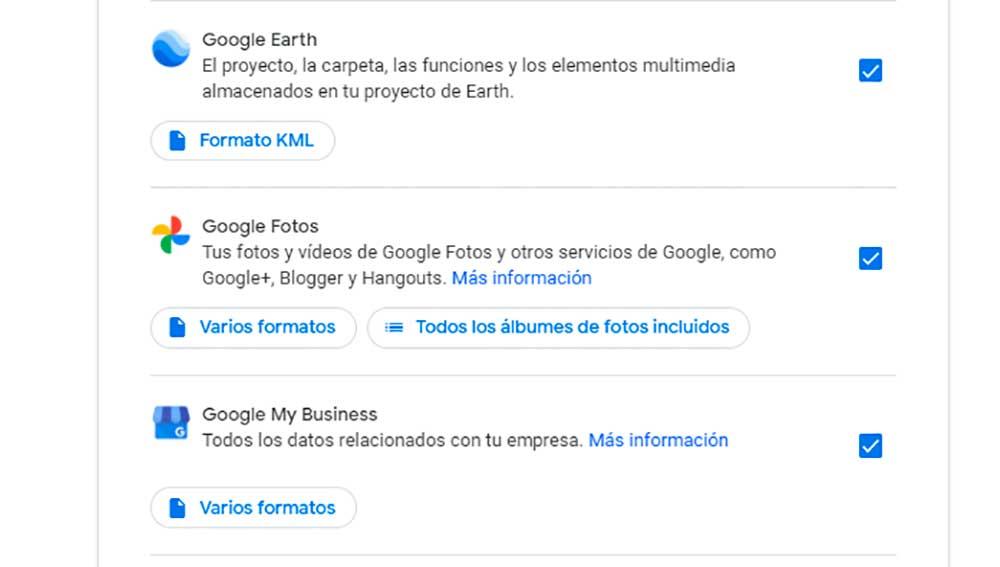 Exportando las fotos de Google Fotos