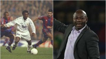 Emmanuel Amunike, en su etapa como jugador y entrenador