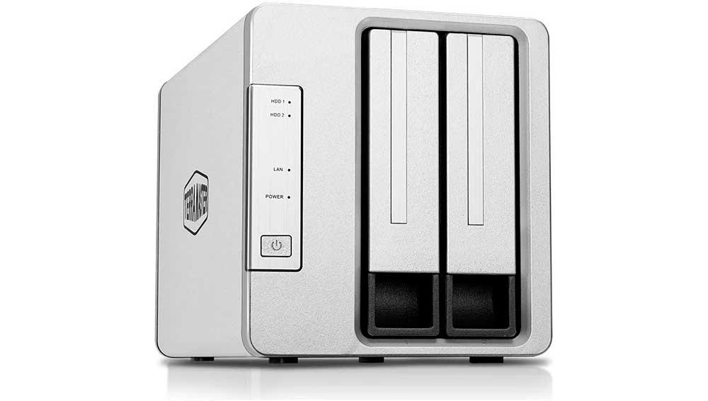 NAS con dos bahías para albergar dos discos duros