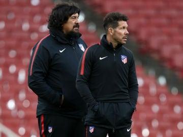El 'Mono' Burgos y el 'Cholo' Simeone