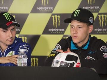Jorge Lorenzo y Fabio Quartararo en rueda de prensa