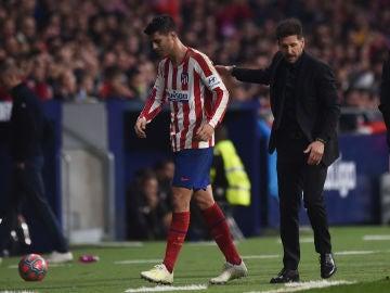 Álvaro Morata y Diego Pablo Simeone