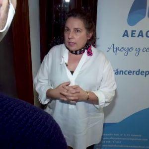 Inma, paciente con cáncer de pulmón