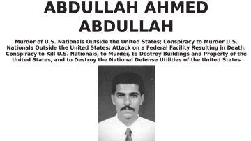 Cartel de 'se busca' de Abdullah Ahmed Abdulla