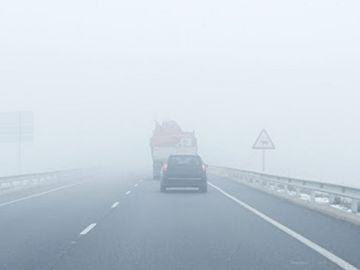 Niebla densa en la carretera