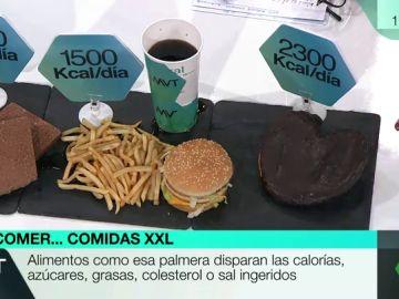 ¿Cuál es el coste en salud de un 'atracón' de calorías? Esto es lo que contienen los bollos y menús XXL
