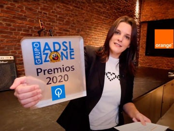 Carolina Denia en la entrega de premios