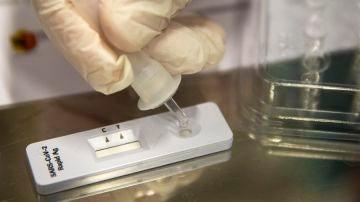 Imagen de archivo de un test de antígenos