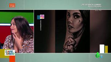 """La reacción de Cristina Pedroche al ver un hombre con un tatuaje de su cara y su cuerpo: """"Es fuerte"""""""