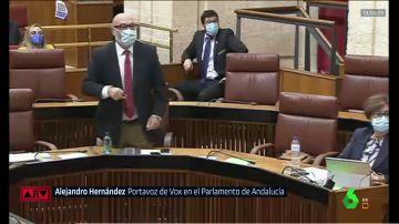 Bronca en el parlamento andaluz