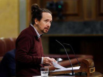 El líder de Podemos y candidato a la Comunidad de Madrid, Pablo Iglesias