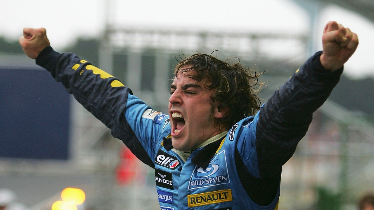 Fernando Alonso se proclama campeón de Formula 1 en el GP de Brasil 2005