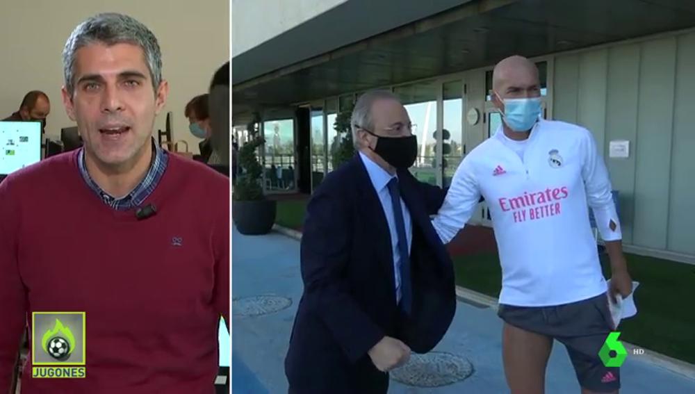 La conversación entre Florentino Pérez y Zidane