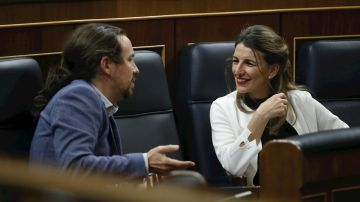 Pablo Iglesias y Yolanda Díaz