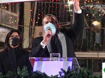 """El efusivo discurso de Abel Caballero al encender las luces de Navidad de Vigo: """"¡El mejor árbol del mundo!"""""""