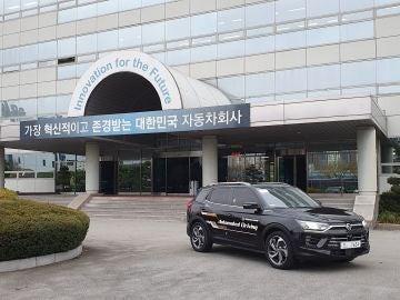 El Korando es el segundo vehículo autónomo de Ssangyong autorizado para probarse por Corea del Sur