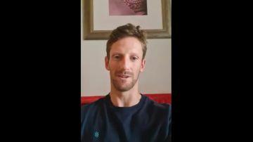 Nuevo mensaje de Grosjean tras su grave accidente