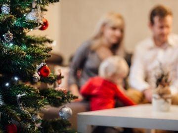 Familia en Navidad (archivo)