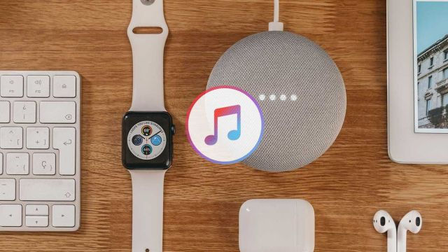 Apple Music y un Google Nest