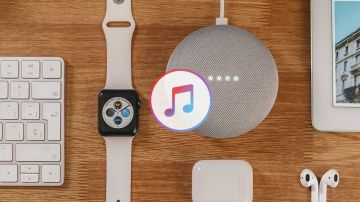 Apple Music y un Google Nest