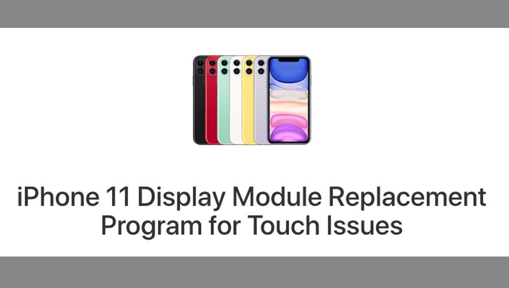 Programa de reemplazo de pantallas en los iPhone 11.